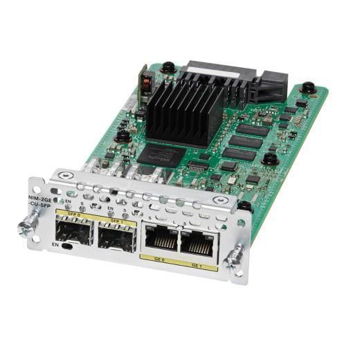 Cisco Systems NIM-2GE-CU-SFP Cisco WAN Network Interface Module - Erweiterungsmodul - Kombi-Gigabit-SFP x 2 | NIM-2GE-CU-SFP