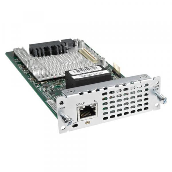 Cisco Systems NIM-1MFT-T1/E1 Cisco 1 PORT MULTIFLEX TRUNK VOICE/CLEAR-CHANNEL DATA T1/E1 MODULE   NIM-1MFT-T1/E1